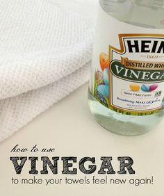 Clean Completely: Use hot water in washing machine and mix two tbsp of white vinegar in it. Now put your towel in the washing machine and