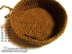 [코바늘] 바구니 뜨기 _ 도안,과정샷 : 네이버 블로그 Straw Bag, Beanie, Hats, Hat, Beanies, Hipster Hat, Beret