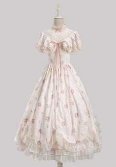 Old Fashion Dresses, Casual Dresses, Fashion Outfits, Kawaii Dress, Kawaii Clothes, Pretty Dresses, Beautiful Dresses, Estilo Lolita, Lolita Dress