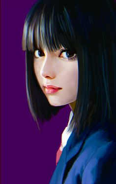 Portrait by ilya kuvshinov Digital Art Girl, Digital Portrait, Portrait Art, Portrait Cartoon, Art Anime Fille, Anime Art Girl, Anime Girls, Character Inspiration, Character Art