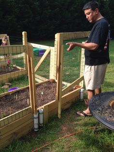 Container Garden w rabbit, deer, mole proof fence and gate. 'U' shaped design with removable fencing sides to easily access the veggies