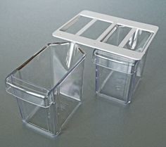 Unterbauschütten Küchenschütte - plastic kitchen drawers, lid can be attached to bottom of upper cabinets or under a shelf - good idea to use plastic instead of glass?