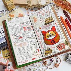 I have finished my very first traveler's notebook week for 2018 and as it is the year of the dog , I have used lots of cute doggie stickers. They are all from @stickiiclub ❤️ who else has finished the first week? One, two, three tell me!