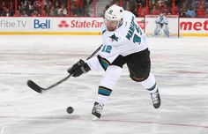 San Jose Sharks forward Patrick Marleau fires a shot on goal (Oct. 27, 2013).
