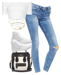 """""""Untitled #1958"""" by hiitsbre ❤ liked on Polyvore featuring ASOS, CÉLINE, Topshop, Converse and Minor Obsessions"""