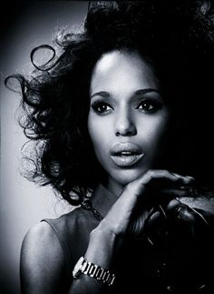 For the gorgeousness of Kerry Washington photographed in black and white glamour