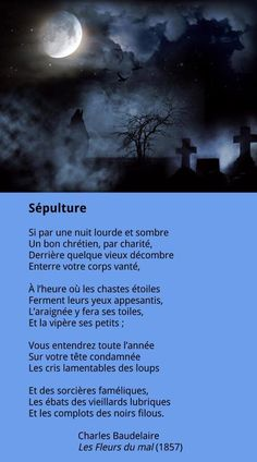 Baudelaire - Sépulture French Poems, French Flashcards, Weird Dreams, World Of Books, Light Of Life, Poetry Books, Texts, Words, France