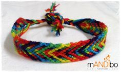 Rainbow Macrame Knotted Friendship Bracelet - Woven Wristband  - Support our Cause - pinned by pin4etsy.com
