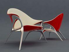 Retro Lounge Chair design by Velichko Velikov
