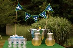 """I know this is a kids party, but there are some good ideas/pics on the site that might work for """"for tee"""".   Photo 1 of 48: Golf / Birthday """"Gage is FORE...and a half!"""" 