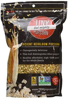 Tiny But Mighty Popcorn Ancient Heirloom Popcorn Unpopped 20 oz ** Check this awesome product by going to the link at the image. Gourmet Recipes, Snack Recipes, Yummy Recipes, The Wild Diet, High Fiber Snacks, Pop Corn, Gourmet Popcorn, Healthy Snacks