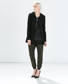 Image 1 of COLLARLESS FROCK COAT from Zara