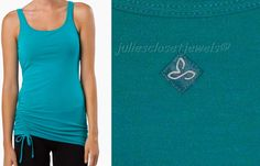 prAna Ariel Tank Top Support Bra Recycled Poly Dragonfly (Teal) XS ACTIVE YOGA  #prAna #ShirtsTops
