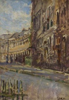 Walter Sickert - Lansdown Crescent, Bath (1917)