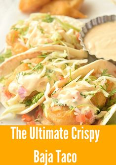 Best ever Baja fish taco with cabbage shredded slaw and cilantro cream Loading. Best ever Baja fish taco with cabbage shredded slaw and cilantro cream Best Fish Recipes, Tilapia Fish Recipes, Salmon Recipes, Seafood Recipes, Mexican Food Recipes, Easy Recipes, Simply Recipes, Orange Recipes, Healthy Recipes