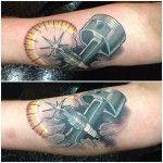 Piston and Spark Plug Tattoo