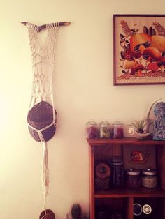 Macrame Wall Hanging Plant Holder by CrystalandTwine on Etsy