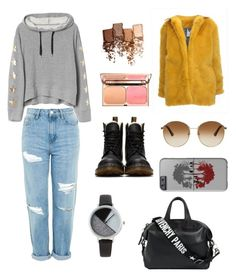 """""""Cozy"""" by jessica-trisanti on Polyvore featuring Topshop, Givenchy, Dr. Martens, Gucci, Maybelline and BKE"""