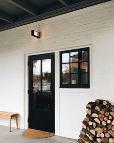 White brick | black trim