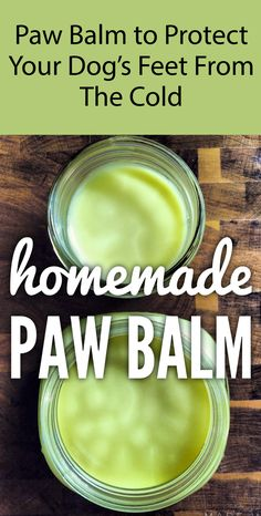 Remedies For Colds Homemade Dog Paw Balm. This cream will help keep your dog's paws warm on cold days. Dog Biscuit Recipes, Dog Treat Recipes, Healthy Dog Treats, Make Dog Food, Homemade Dog Food, Homemade Dog Shampoo, Dog Food Reviews, Dog Training Treats, Dog Food Container