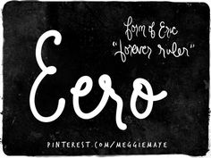 """Baby boy's name Eero. Pronounced similar to """"Arrow."""" Though it looks like it rhymes with Hero, this name related to Eric starts with a sound that is like the short 'e' in 'bet.' """"Eh-ro."""" It is a Finnish form of Eric."""