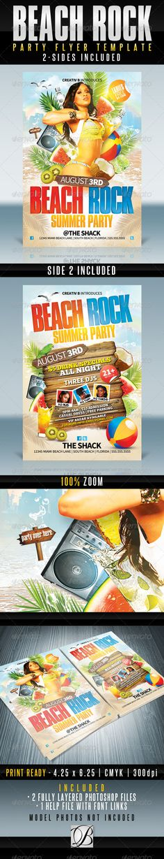 Luau Party - Club Flyer Template Flyer template, Print templates - pool party flyer template