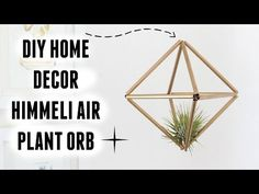 DIY ROOM DECOR - HIMMELI AIR PLANT ORB | Carly Musleh - YouTube