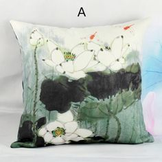 Lotus pillow Chinese style flower decorative pillows for couch