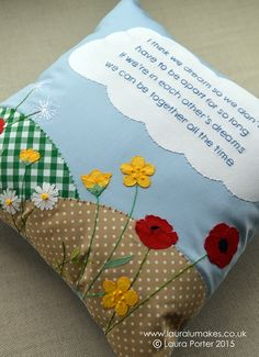 A cushion for a wonderful lady who lost her sister, but they are always together in dreams x