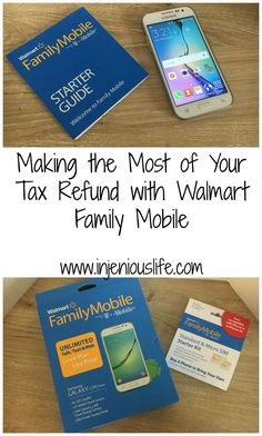 Making the Most of Your Tax Refund with Walmart Family Mobile - injeniouslife #DataAndAMovie (ad)