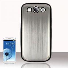 £0.99 GBP - Aluminium Style Chrome Finish Back Case Cover For Samsung Galaxy S3 I9300 & Film #ebay #Electronics