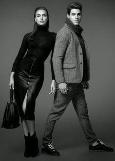 "burberryboyy: ""homme–models: ""Chad White & Irina Shayk for Scoop NYC "" "" Irina Shayk, Poses Pour Photoshoot, Style Photoshoot, Fashion Editorial Couple, Fashion Couple, Model Posing, Trendy Fashion, Fashion Models, Men's Fashion"