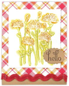 Fanfare Flowers Hello Card by @Crafts Direct
