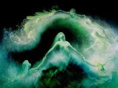 Karl Wilhelm Diefenbach German Painter, Symbolist and Naturalist Nassau, Dragons, Hesse, Stormlight Archive, Kunst Online, Digital Museum, Fantasy Films, Dark Art, Les Oeuvres