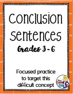 Teaching Paragraph Writing: Conclusions - The Teacher Next Door - Creative Ideas From My Classroom To Yours