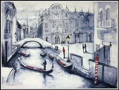 Venice - Gondola framed
