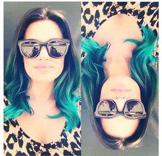Blue hair. Ombré. Blue ombré . Teal hair