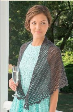 Downton Abbey Dowager Shawl: FREE pattern | AllFreeCrochet.com