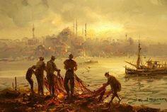 (Turkey) by Remzi Taskiran ). Oil on canvas. Energy Pictures, Ottoman, Turkish Art, Greatest Adventure, Gravure, Figure Painting, Pattern Art, Painting Inspiration, Art Boards