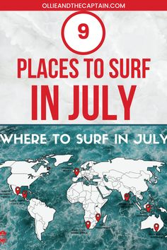 From the cold waters of Cape Town to the heavy swell in Zicatela - here are a few of the best places to surf in July around the world. Santa Teresa Costa Rica, Cape Town, The Good Place, Bali, Surfing, Mexico, Africa, Around The Worlds, Waves