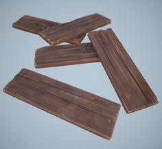 ArtStation - cartoon wooden planks, Alexey B.