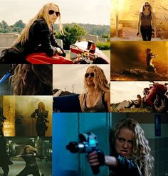 Six from the Lorien Legacies series. The movie didn't do this girl half the justice she deserves. I love Six's strength, kindness, and crazy streak...she can more than hold her own in a fight, but she's not stone cold (even when it might appear so).  Teresa Palmer  I Am Number Four  Six 