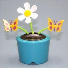 Solar Powered Dancing Flip Flap Flowers Bugs Animals Bobble Toy Solar Dancer | eBay