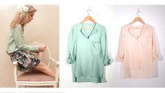 Silk Oversized Shirt with Pocket