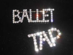 Ballet Tap Rhinestone Word Pins Brooches by Libbysmomsvintage