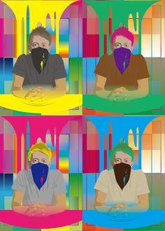 Four Thom Yorke / 4人のトムヨークさん  #Thom Yorke