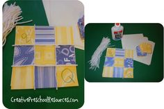Quilt. Going to use this idea with smaller squares to make a sight word quilt for a letter q themed sight word lesson.