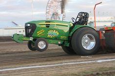 Tractor Pull Truck And Tractor Pull, Tractor Pulling, Old Tractors, John Deere Tractors, John Deere Equipment, Heavy Equipment, Tractor Weights, Truck Pulls, Up In Smoke