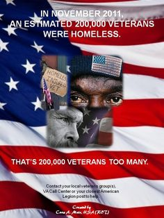 Homeless Veterans...this is disgraceful. No veteran should every be homeless!!