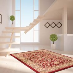 Tabriz Traditional Rugs 001 in Red buy online from the rug seller uk Beige Carpet, Diy Carpet, Modern Carpet, Traditional Rugs, Traditional Design, Living Room Size, Indian Rugs, Carpet Stairs, Red Rugs